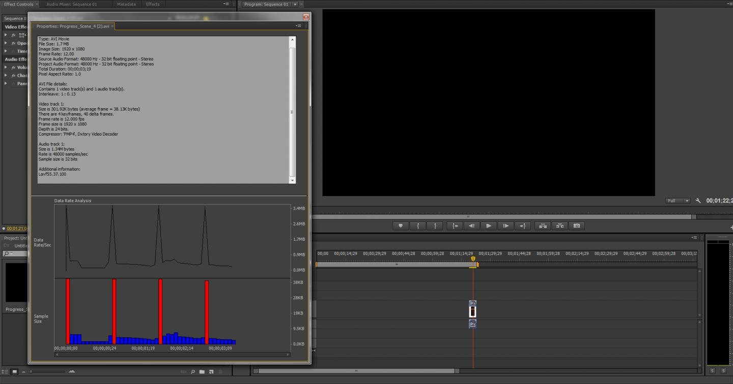Video File Info from Premiere Pro CS6